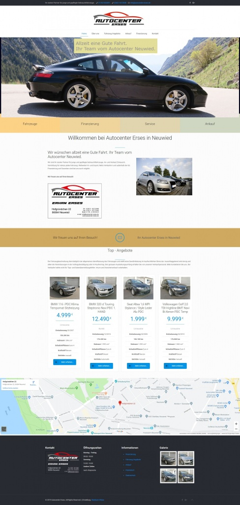 WordPress Seite von Autocenter Erses Neuwied