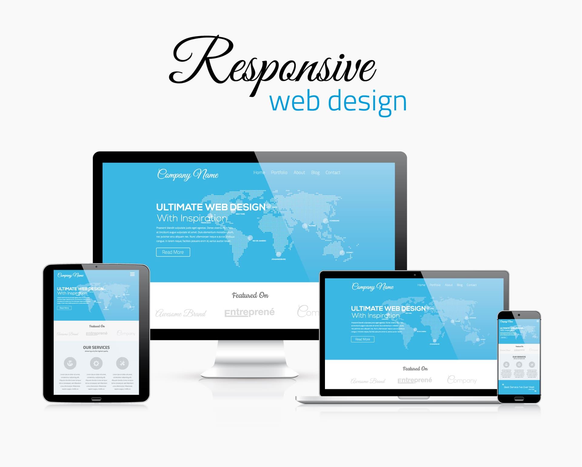 bild zeigt responsive web design