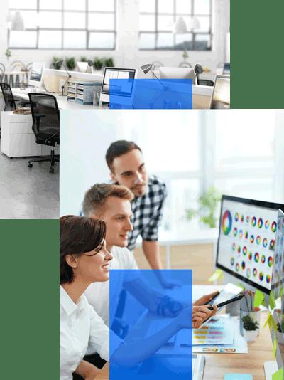 Büroalltag des Webdesigns