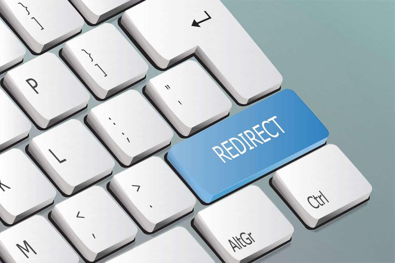 Tastatur mit Taste redirect