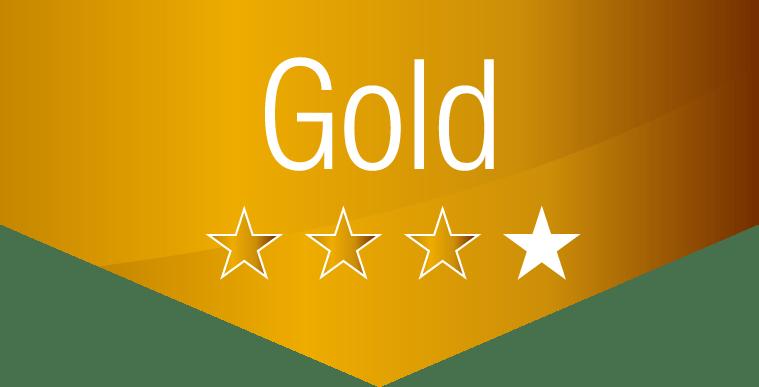 gold Paket 3 Stern von 4